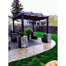 Steel Pergola With Canopy by Hampton Bay 9 1 2 Ft X 9 1 2 Ft Steel Pergola With Canopy Polyvore