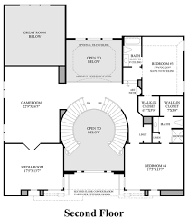 house plans with curved staircases