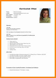 French Resume Example by 12 Example Cv In English Resumed Job
