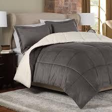 Black Down Alternative Comforter Reversible Down Alternative Comforter Set In Charcoal Newport Grove