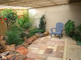 patio ideas garden design patio with concrete tiles material and