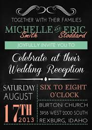 templates classic wedding reception invitation wording after