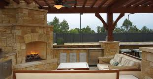 outdoor kitchen idea inspiring outdoor kitchen idea with fireplace and wood