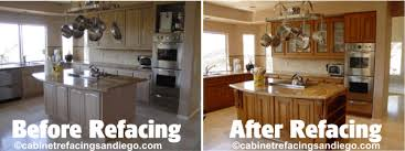 Resurfaced Kitchen Cabinets Before And After Astonishing Reface Kitchen Cabinets San Diego Unusual Kitchen Design