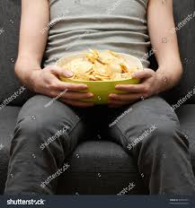 Fat Couch Potatoes Man On Couch Eating Potato Chips Stock Photo 40396735 Shutterstock