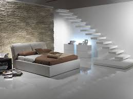 modern bright bedroom ideas for basement with floating wall white