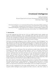 emotional intelligence pdf download available