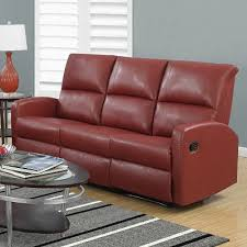 dana bonded leather sofa in red reclining modern sofa canada