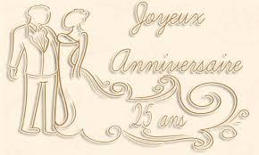 25 ans de mariage mariage carte 25 ans mariage