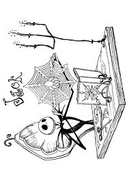 jack sally nightmare christmas coloring pages