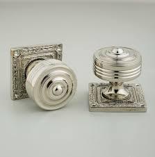 georgian square rose nickel door knobs grace u0026 glory