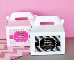 personalized boxes personalized birthday mini gable boxes set of 12