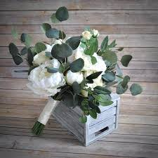 wedding flowers eucalyptus eucalyptus bouquet seeded eucalyptus bohemian bouquet greenery