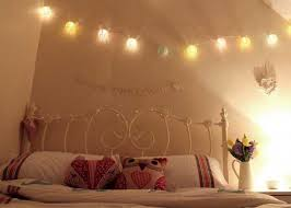 interesting delightful bedroom string lights simple yet beautiful