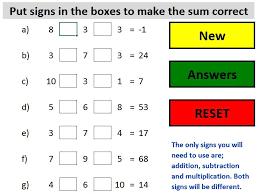 bidmas add missing signs or brackets by bodmans teaching