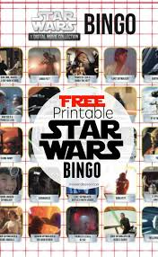 free printable star wars activities u2013 bingo u0026 movie trivia