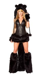 Black Kitty Halloween Costume Tiger Costume Onesie Footed Animal Furry Tail
