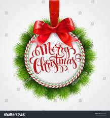 holiday round frame christmas balls vector stock vector 340673504