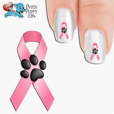 breast cancer awareness ribbon with paw print nail art decals now