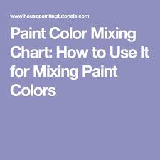 paint color mixing chart how to use it for mixing paint colors