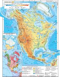 North America Physical Map by North America Physical Map Tectonics The Old Mainland Ice The