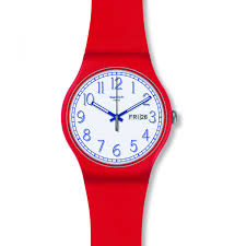 red swatch unisex swatch red me up watch suor707 watchshop com
