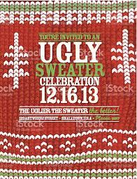 knit pattern sweater celebration invitation