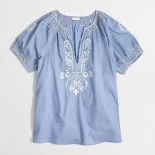 j crew blouses factory v neck peasant top shirts tops factorywomen s