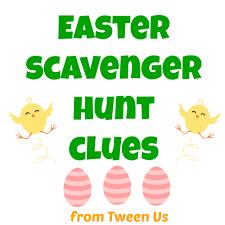 scavenger hunt ideas for halloween party printable easter scavenger hunt clues between us parents