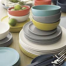 roscoe blue appetizer plate in dinnerware sets crate and barrel
