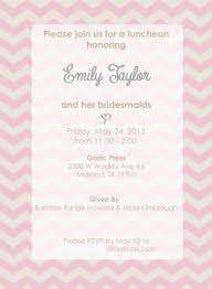 bridesmaids luncheon invitation wording photo bridal luncheon invitations templates image