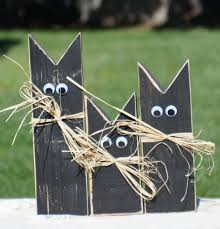 outside halloween crafts primitive black cat halloween decor halloween decorations black