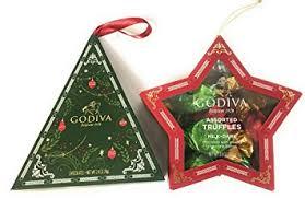 amazon com godiva chocolate christmas tree ornament bundle 3 5