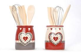pot à ustensiles de cuisine pot déco coeur pour ustensiles de cuisine à seulement 9 50