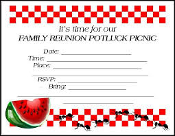 family reunion invitations tips samples templates printables