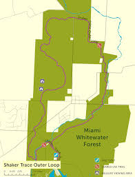 Great Loop Map Miami Whitewater Forest Shaker Trace Outer Loop Great Cincy Strides