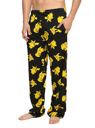 pikachu print guys pajama topic
