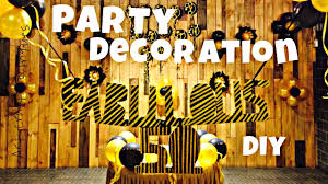Birthday Decorations To Make At Home Birthday Decoration Ideas At Home Easy Quick And Simple Diy Youtube