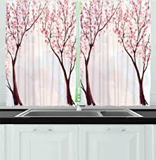 Cherry Kitchen Curtains by Amazon Com Ambesonne Kitchen Decor Collection Fruit And