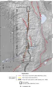 Map Of Nevada And Surrounding States Map Of The Late Quaternary Active Kern Canyon And Breckenridge
