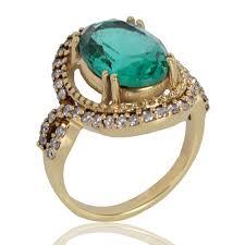 stone finger rings images Rings latest design green stone finger ring for women at best jpg
