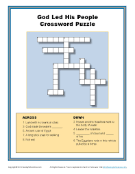 crossword puzzle thanksgiving god divided the red sea crossword bible puzzles for children