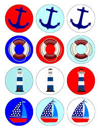 nautical cake toppers nautical sail boat theme cupcake toppers