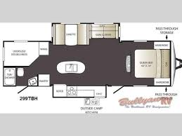 Keystone Trailers Floor Plans by New 2013 Keystone Rv Terrain Ultra Lite 299tbh Travel Trailer At
