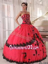coral quince dress attractive coral quinceanera dress with black appliques