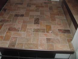 Herringbone Bathroom Floor by Herringbone Pattern Tile Slate Floor Use W Bricks And Concrete