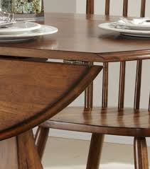 Pedestal Drop Leaf Table Creations Ii Round Drop Leaf Pedestal Dining Table By Liberty