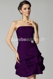 robe violette mariage robe de cocktail courte bustier ballon taffetas laçage dans le dos