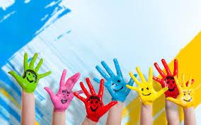 wallpaper 2560x1600 paint children happiness