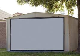Backyard Projector Screen by A V For The Great Outdoors Sound U0026 Vision